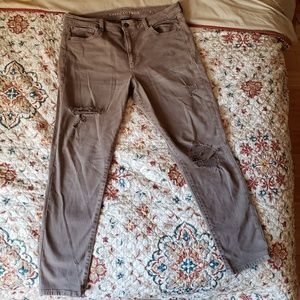 AE Super stretch high waisted jeggings size 18